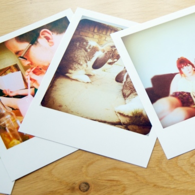 polaroid style prints lustre wedding photography portrait